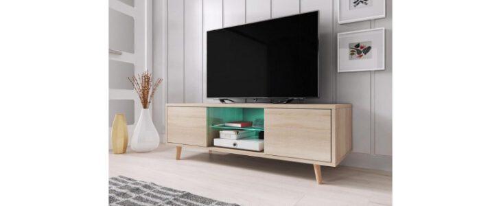 Een tv meubel dat Scandinavisch is voor een rustige inrichting